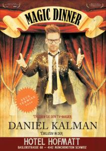 Magic Dinner Hofmatt mit Daniel Kalman 24.04.2020 - Rückseite